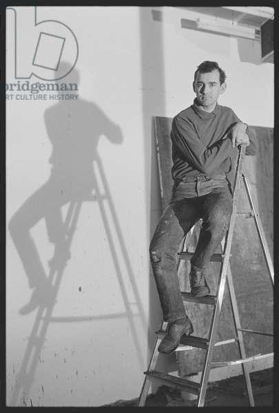 Christopher le Brun RA, 1986 (b/w photo)