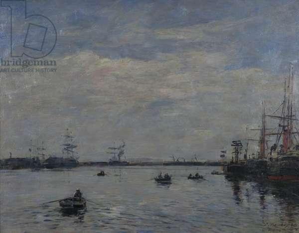 Le Havre, 1888 (oil on board)