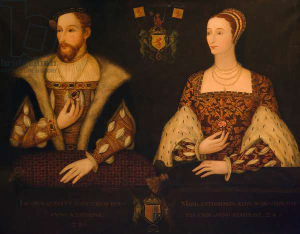 King James V and Queen Mary of Guise (oil on canvas)