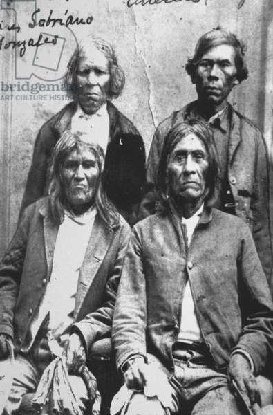 Pueblo Men, 1900 (b/w photo)