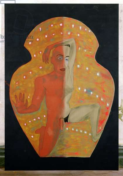 Paradigm, 1988 (pigment on linen)