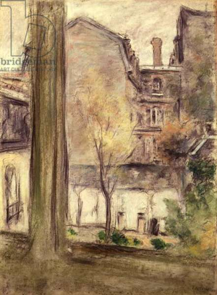 View of the Courtyard, c.1900 (pastel on paper)