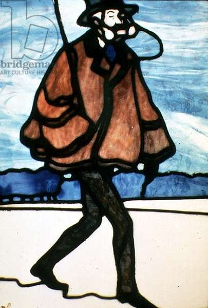 The Dandy, c.1900 (stained glass)