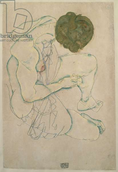 Woman with Spread Legs, 1914 (w/c & pencil on paper)