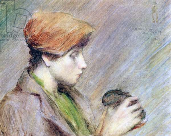 Suzanne Hoschedé with a Rabbit, 1891 (oil on canvas)