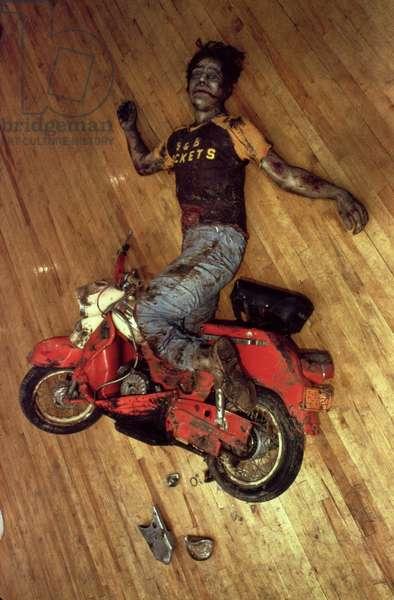 Motorbike Accident, 1969 (mixed media)