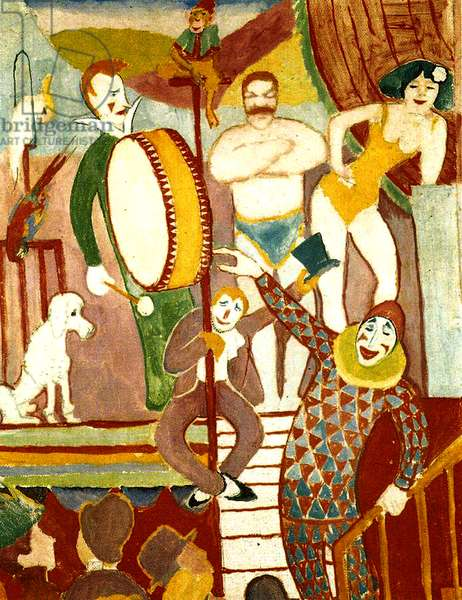 Circus Artists, 1911 (oil on canvas)