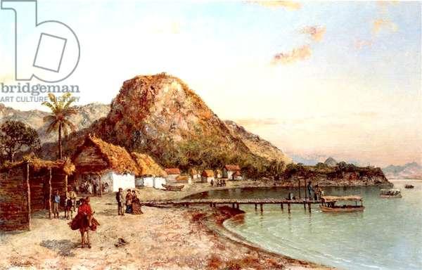Coastal Scene, Jamaica, 1875 (oil on canvas)