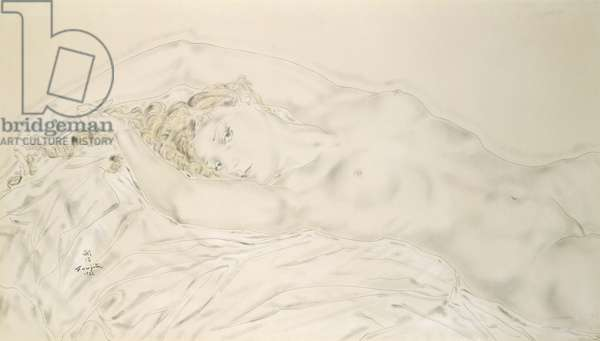 Reclining Nude, 1932 (pen & ink and w/c on paper)