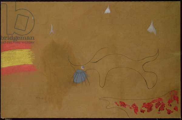 The Bull Race, 1925 (oil on canvas)