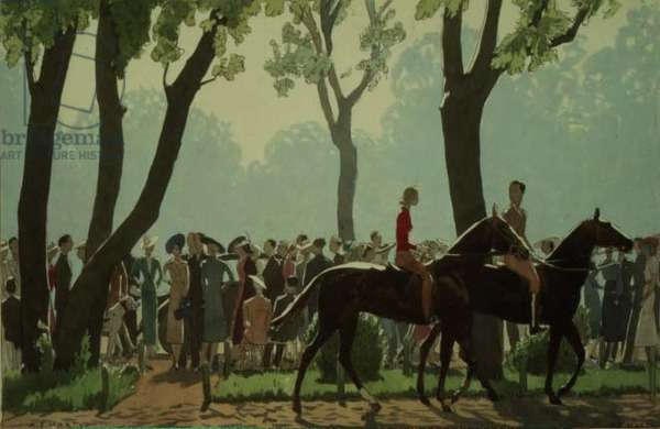 Sunday Morning at the Clay Pigeon Shoot, Bois de Boulogne, 1938