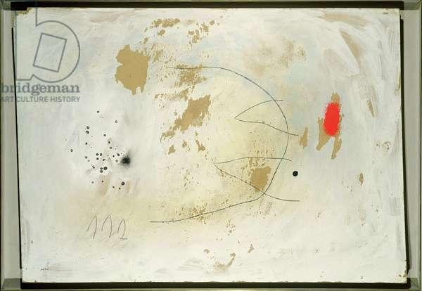 Solitude II/III, 1960 (oil,charcoal on cardboard)