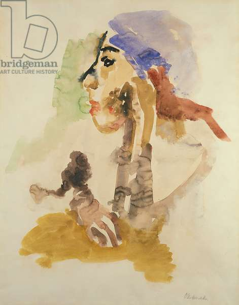 Young Woman, 1926 (w/c & gouache on paper)