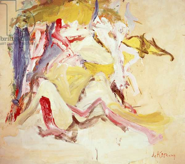 Woman on the Dunes, 1967 (oil on paper & canvas)