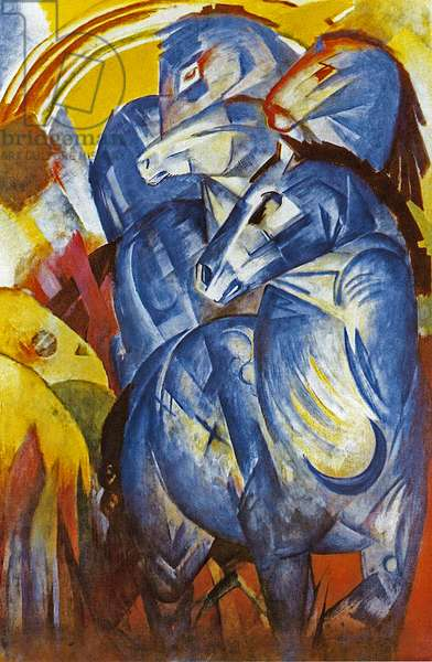 A Tower of Blue Horses, 1913 (oil on canvas)
