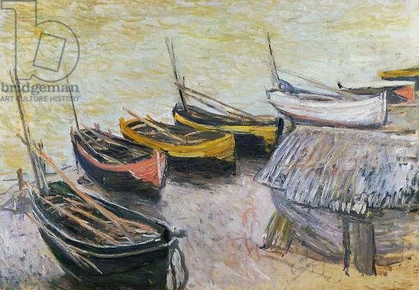 Boats on the Beach, 1883 (oil on canvas)