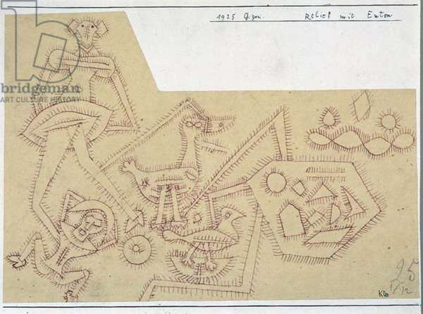 Relief with Ducks, 1925 (no 162) (pen on paper on cardboard)