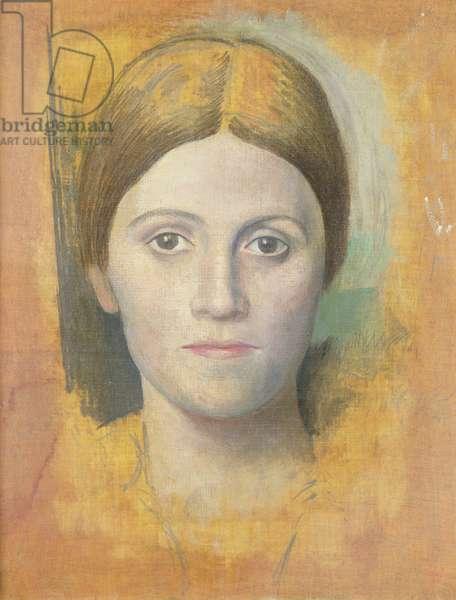 Portrait of the Artist's Wife, Olga, 1918 (oil on canvas)