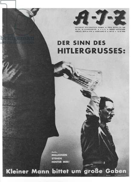 Millionen Stehen Hinter Mir! (Millions Stand Behind Me!) cover of 'AIZ' (Arbeiter Illustrierte Zeitung) 16th October 1932 (litho)