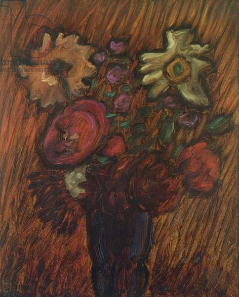 Asters, 1936 (oil on panel)