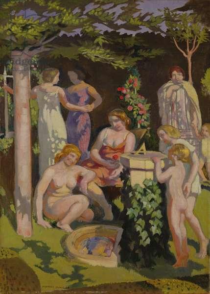 The Sun-Dial, 1928 (oil on canvas)