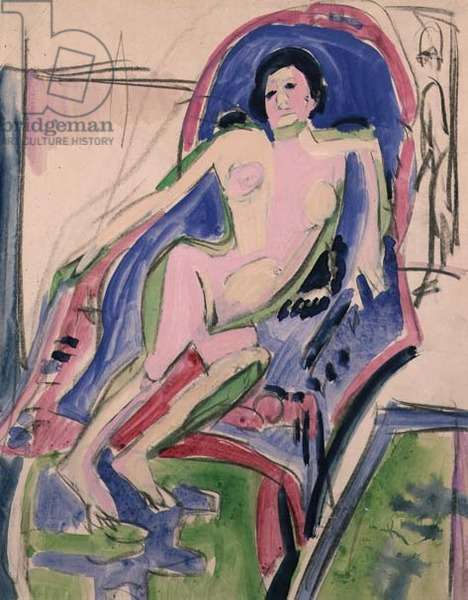 Reclining Nude, 1912 (gouache on paper)