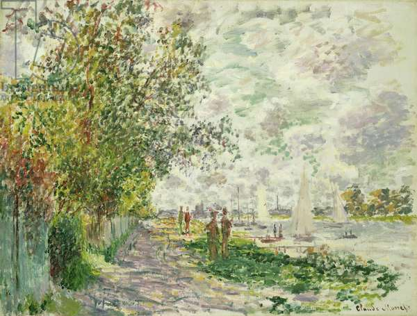 The Riverbank at Gennevilliers, c.1875 (oil on canvas)