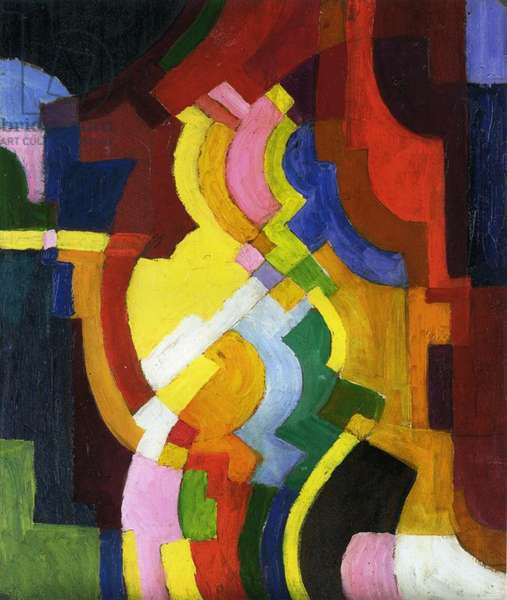 Coloured Forms III, 1913 (oil on panel)