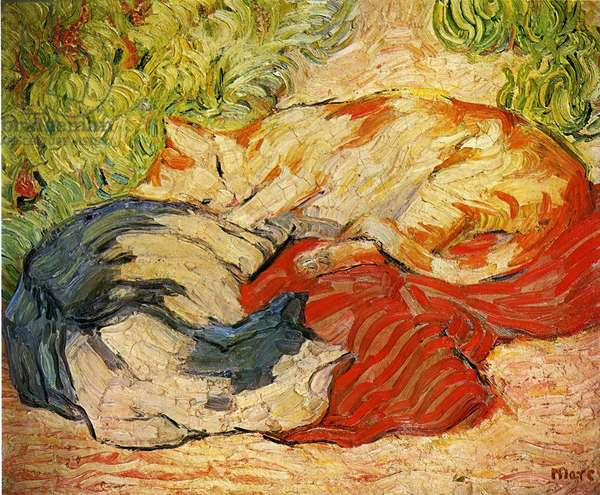 Cats, 1909-10 (oil on canvas)
