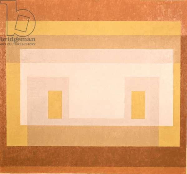 Variation - White, Grey, Yellow, Orange, 1948 (oil on canvas)