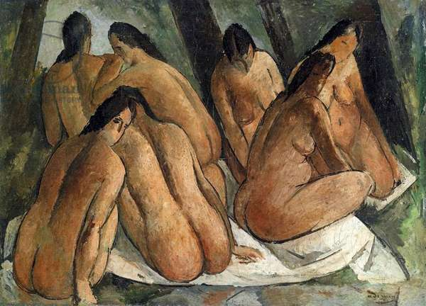 Bathers, c.1908-09 (oil on canvas)