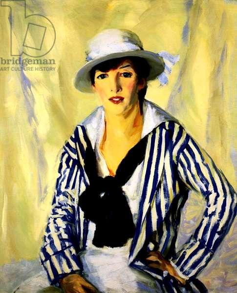 Viv in Blue Stripe, 1914 (oil on canvas)