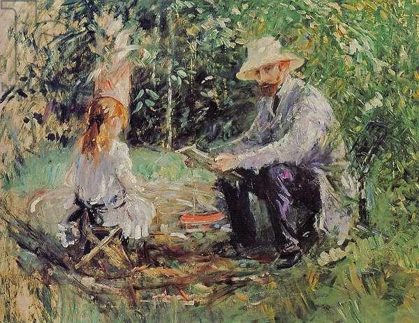 Julie and Eugene Manet, 1883 (oil on canvas)