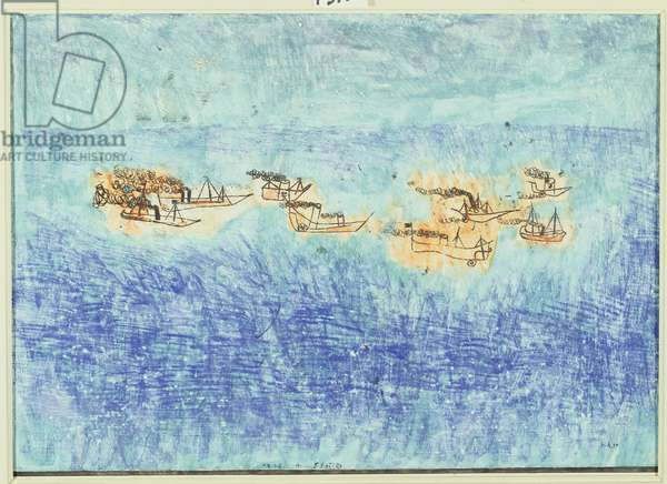 Flotilla, 1925 (no 1) (w/c & transfer drawing on primed paper on cardboard)
