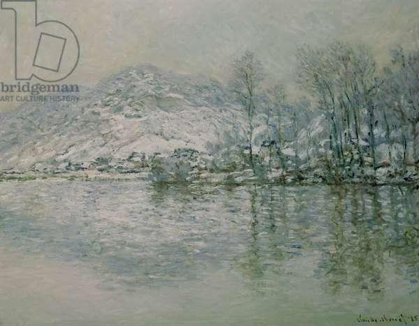 The Seine at Port Villez in Winter, 1885 (oil on canvas)