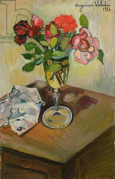 Roses in a Glass, 1926 (oil on canvas)