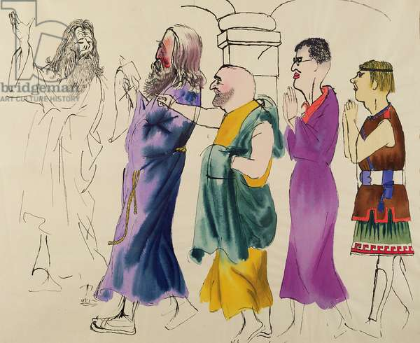 The First Christians, c.1934 (w/c and ink on paper)