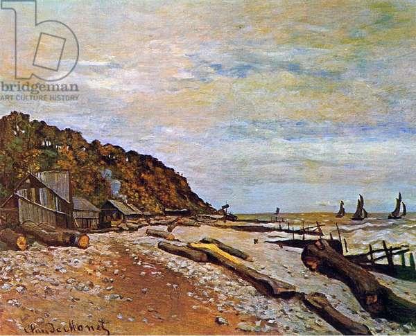 Boatyard near Honfleur, 1864 (oil on canvas)