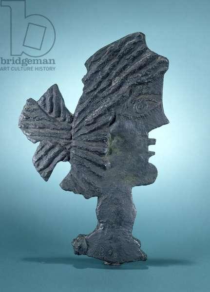Head with a Chignon, 1940 (bronze)