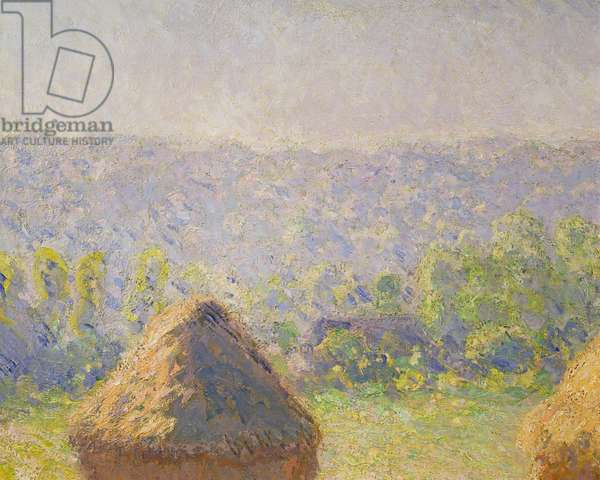 The Haystacks or, The End of the Summer, at Giverny, 1891 (oil on canvas) (detail of 19132)