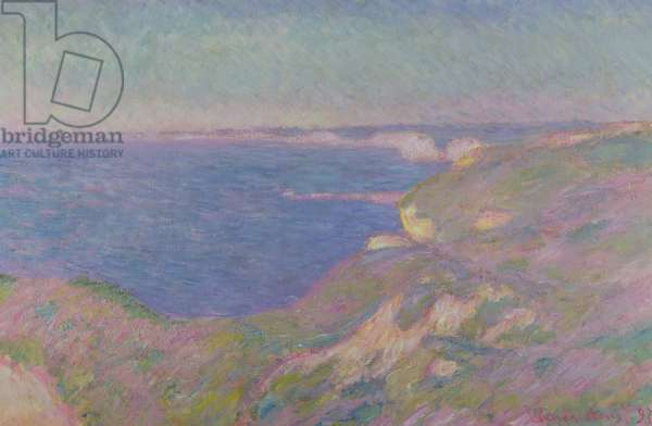 The Cliffs Near Dieppe, 1897 (oil on canvas)