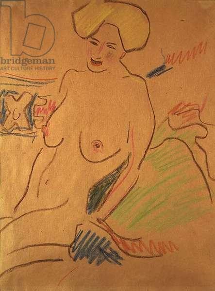 Seated Nude, c.1907 (chalks on paper)