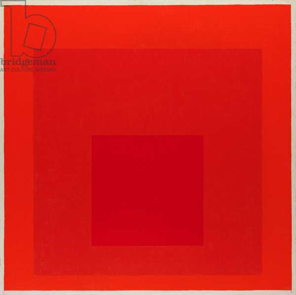 Study for Homage to the Square - R - PI, 1970 (oil on masonite)