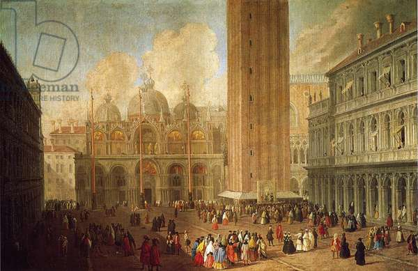 Piazza San Marco, Venice, c.1722 (oil on canvas)