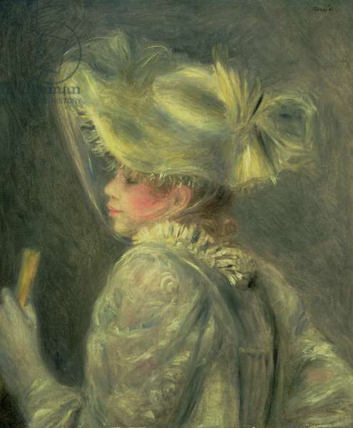 The White Hat (oil on canvas)