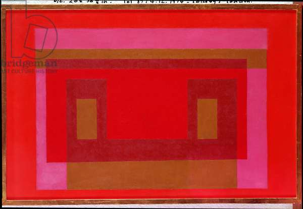 Variation in Red and Orange around Pink, Ochre, Plus Two Reds, 1948 (oil on canvas)