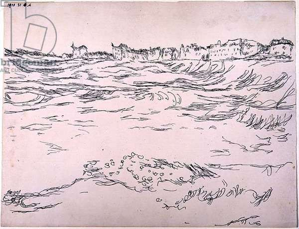Near Munich, 1910 (no 31) (pen on paper on cardboard)                           8                                                                        (pen on paper on cardboard)