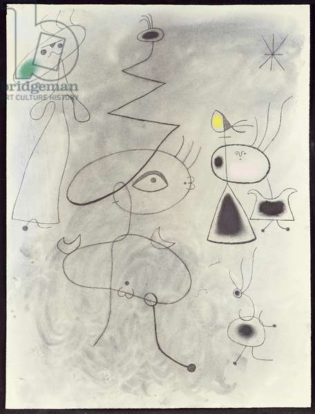 The Starwoman, 1942 (charcoal, pastel & w/c on paper)