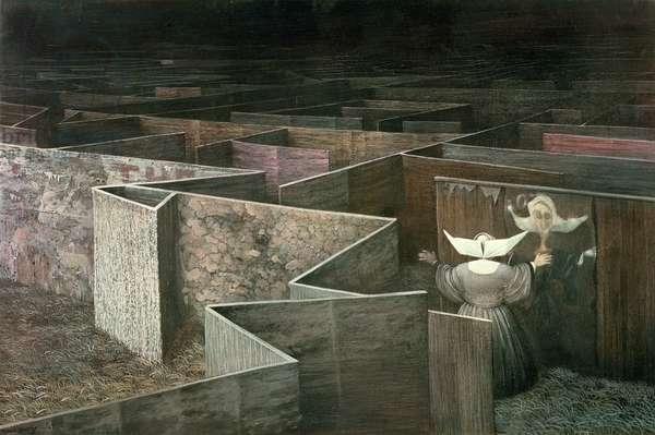 The Labyrinth, 1951 (w/c)