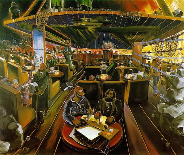 Cafe Deutschland IV, 1978 (oil on canvas)